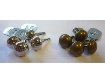 Handbag / Purse Feet 12mm Dome shaped Set of 4 Nickel or Antique Brass
