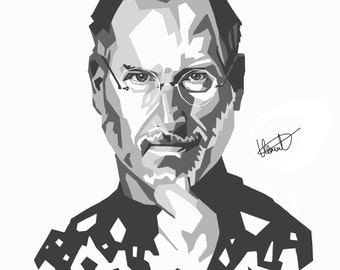 PAPER Steve Jobs - ipad  portrait