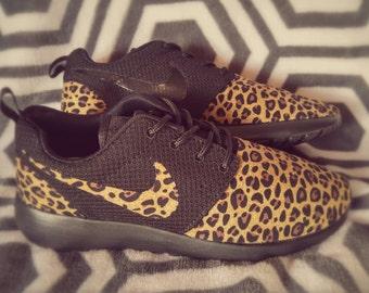 Custom nike roshe run leopard cheetah