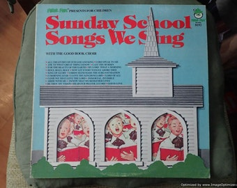 Sunday School songs we sing peter pan Vintage Vinyl Record