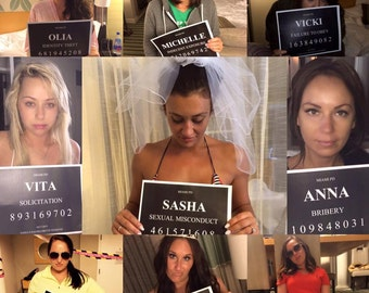 BACHELORETTE PARTY MUGSHOTS! (hard copies)