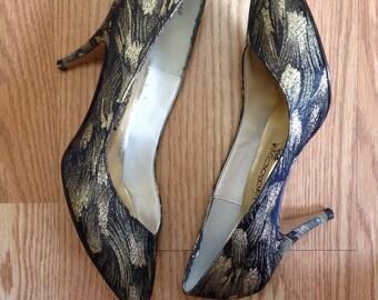 Vintage Metallic Coloriffics High Heels Pumps Size 8 or 9