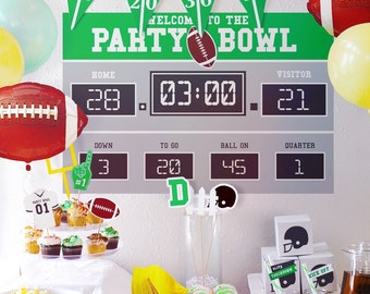 Scoreboard Only // Football Party Decorations // Customizable Downloadable + Printable