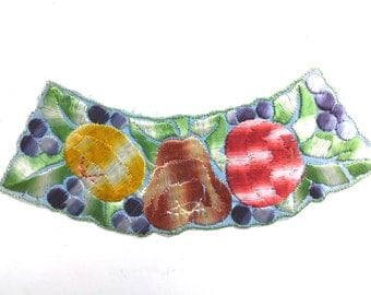 Fruit Trim Applique 1930s embroidered Sewing supply. #642GC1K6
