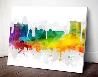 Boise Skyline Canvas, Boise Print, Boise Art, Boise Gift Idea, Boise Cityscape, MMR-USIDBO05C