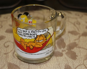 Garfield the Cat Clear Coffee Mug