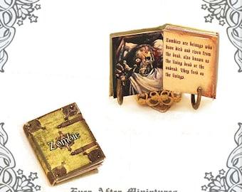 ZOMBIE Dollhouse Miniature Book –1:12 Undead Walking Dead Miniature Zombie Book Zombie Survival Guide Halloween Miniature Printable DOWNLOAD