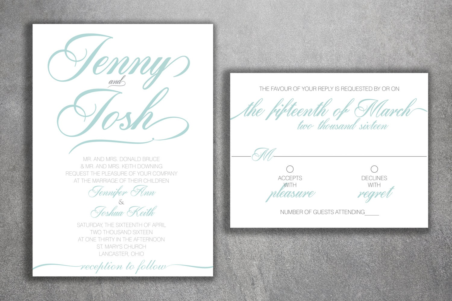 Affordable Wedding Invitations Set Cheap Wedding Invitations