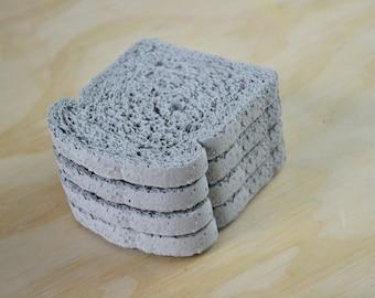 Whole wheat Concrete Coasters