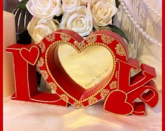 Customised 'LOVE' Photo Frame.