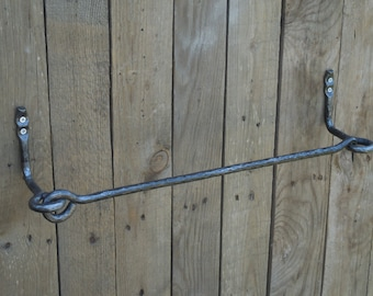 Wrought iron towel bar,  Bathroom Accessories, Wrought iron, Hand forged, Blacksmith, Towel rack, Towel holder