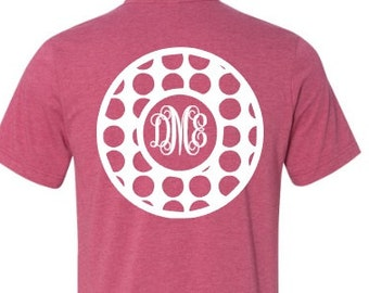 Monogrammed t-shirt, plus size,  personalized monogram, dot monogram, initials, bella canvas, made by Enid and Elle