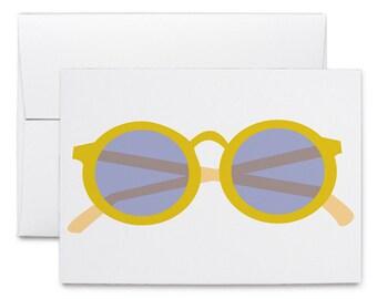 Glasses - Greeting Card