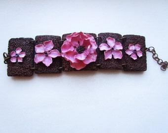 Bracelet «Copper lily»
