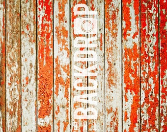 Photography Backdrop- Distressed Red Wood