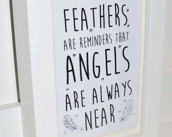 Angels picture and wording in small frame