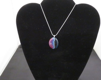 Fused Glass Pendant and Chain (010915-0002)