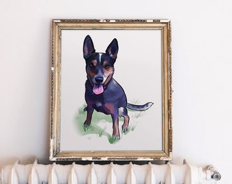 Dog Art Custom, Dog Illustration Custom, Dog Portrait, Custom Dog Portrait, Custom Dog Painting, Custom Dog Art