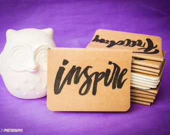 INSPIRE // Calligraphy Pocket Notebook