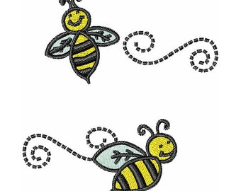 Bees Machine Embroidery Design