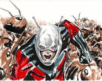 antman marvel painting