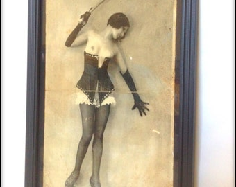 Victorian Erotica reproduction print in frame.