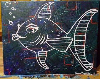 """Painting Titled """"Fish Funk"""""""
