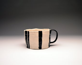 Black and White Stripe Mug