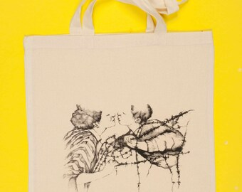 Tote bag - black and white design