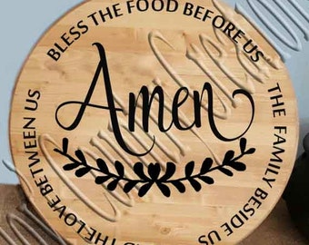 Blessed the food Circle Amen  SVG, PNG, JPEG