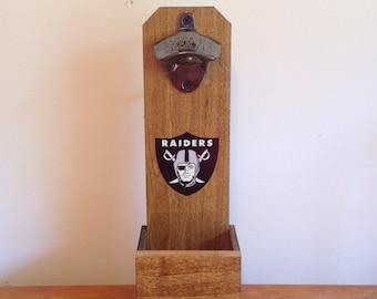 Wall Mounted Bottle Opener - Oakland Raiders