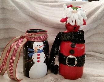Home made Christmas 32 oz canning jars