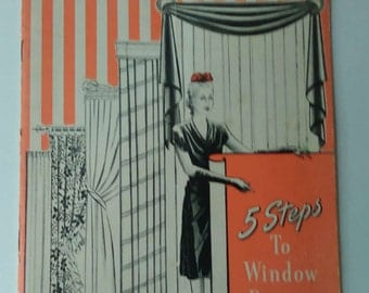 2 Vintage Home decorating booklets window treatments sewing shortcuts 1944 1974