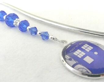 Doctor Who bookmark TARDIS Police Box beaded bookmark