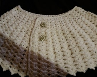 Crochet shawl, wrap,or cover up. Made to order.  Bridal cover up, bridesmaid wrap or any occasion. Any size and color. Handmade