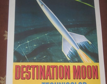 Destination Moon Movie Poster 24x36in scifi classic by Robert Heinlein