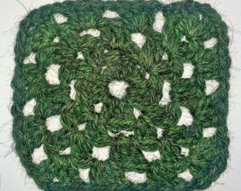Pure Alpaca Wool Crochet Granny Square Coaster