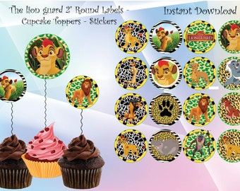 Instant DL The lion guard cupcake toppers- The lion guard  party, The lion guard  Tags, The lion guard   birthday,Printable Tags