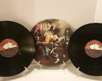 VInyl Album Cover Clock - KISS [#3] Free Shipping