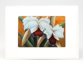 "Fine Art ""Orchid"" Blank Single Card With Envelope"