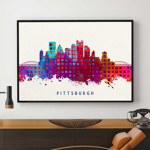 Home Decor Pittsburgh: Pittsburgh Skyline Art Pittsburgh Skyline Painting