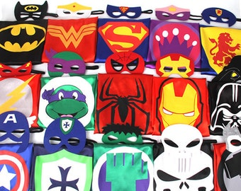 43.3 inches Party Pack 11,12,13,14,15 - SUPERHERO CAPE BULK - Superhero Party Pack Capes - Super hero Party Favor - superhero capes