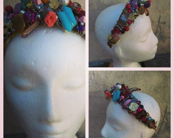 Rainbow Charm, Crown - Headband