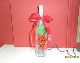 Frosted Clear Wine Bottle Night Light
