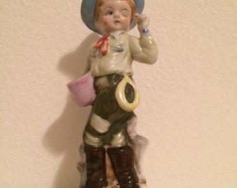 Vintage Boy Figurine