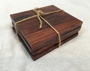 Wood Coasters - African Mahogany
