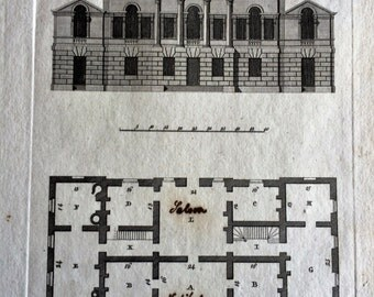 1798 Architectural Engraving.