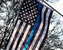 US Flag - Thin Blue Line