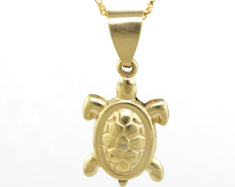 Small Turtle Necklace/14K Gold Filled/Goodluck Charm/Gold Necklace/Tortuga