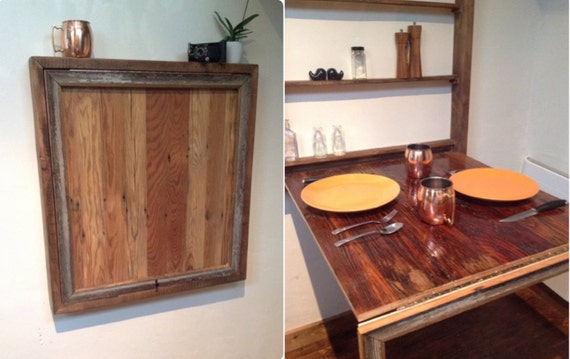 rustic dining table desk for tiny house or small by